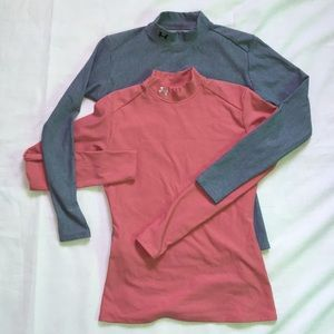 Under Armour Fitted Long sleeve Workout Tops Sz L